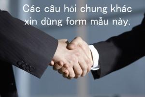 一般のお問合せはこちらから(ベトナム語)